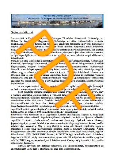Sajto-nyilatkozat